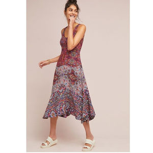 Anthropologie Maeve Floral Boho Violette Dress 4